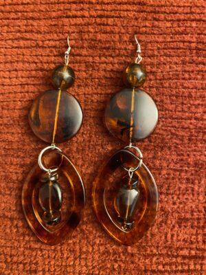 Transparent Brown Earrings