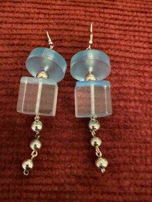 Clear Blue Earrings